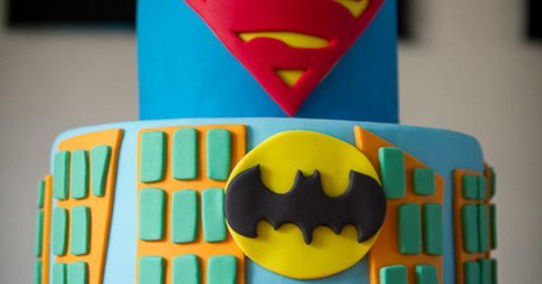 superhero cake! Lucian's birthday cake!