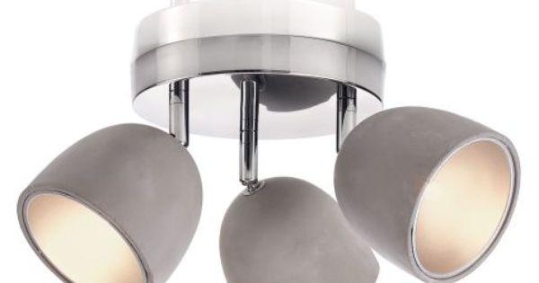 deckenleuchte mit 3 spots modern beton und metall. Black Bedroom Furniture Sets. Home Design Ideas