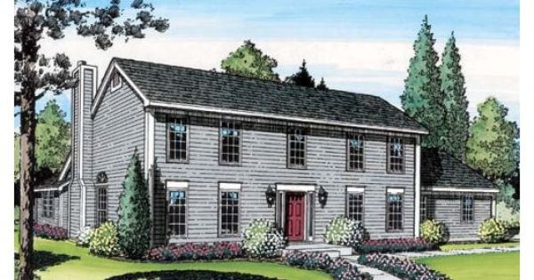 Traditional Style House Plan 3 Beds 2 5 Baths 2095 Sq Ft Plan 312 793 Colonial House Plans Colonial House Saltbox Houses