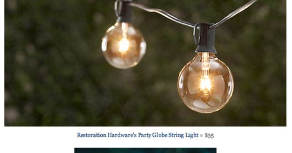 RESTORATION HARDWARE PARTY GLOBE LIGHT STRING vs TARGET S ROOM ESSENTIALS CLEAR GLOBE LIGHTS ...