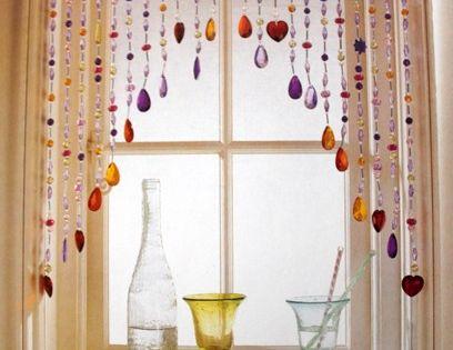 Home Decor Craft Idea - beaded-curtains-window