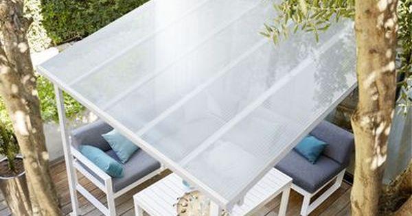 Toit Couv Terrasse 3 X 3 M Blanc Solution De Protection Contre La Pluie La Grele Le Soleil Et La Chaleur Dimensions Ext Pergola Terrasse Decoration Veranda