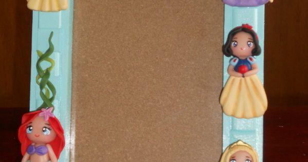 porta retratos disney princesas momo creaciones porcelana fria pinterest clay polymers. Black Bedroom Furniture Sets. Home Design Ideas