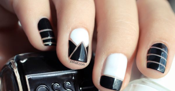 Alexander Wang nailart - Love the use of the nail bed as