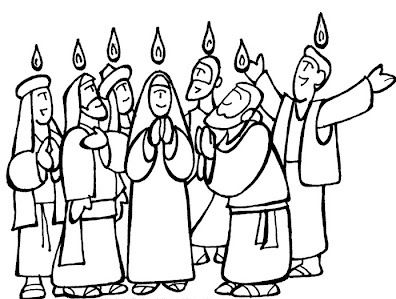 Coloring Pages Pentecost Number Pentecost Colouring Pages