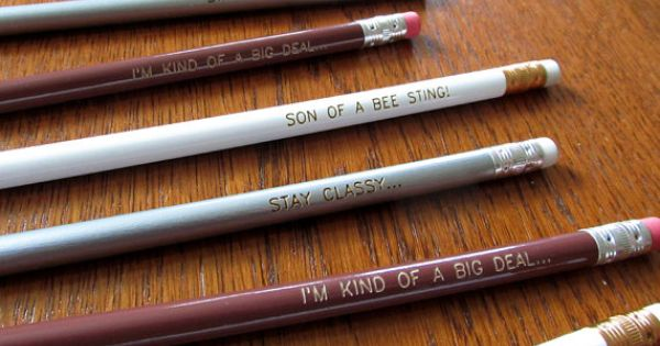 12 Anchorman inspired Pencil Pack Including Stay Classy, Son of a Bee