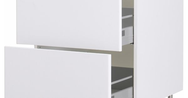 Akurum base cabinet with 3 drawers white h rlig white for Ikea article number