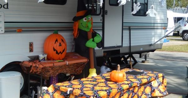 Ocean Lakes Family Campground Myrtle Beach Sc Halloween Celebration Decorations By Campers