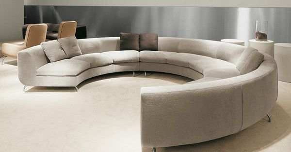 canap rembourr rond en tissu dubuffet canap rond minotti assises pinterest canap. Black Bedroom Furniture Sets. Home Design Ideas