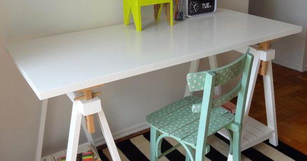 Carmaquina 185 crop escritorios mesas de trabajo for Mesa caballete ikea