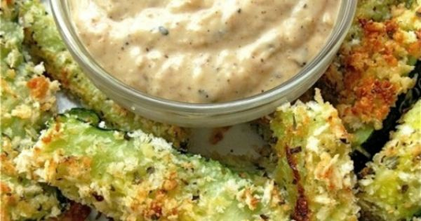 Baked Zucchini Fries with Onion Dipping Sauce | Recipe ...