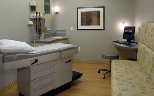 Exam Room With Workstation For Emr Entry Clinic Design