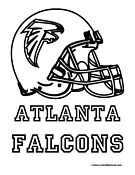 Atlanta Falcons Coloring Page Atlanta Falcons Atlanta Falcons