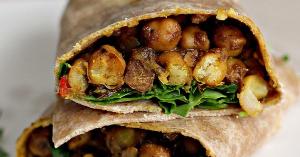 Vegan West Indian style Channa Wraps