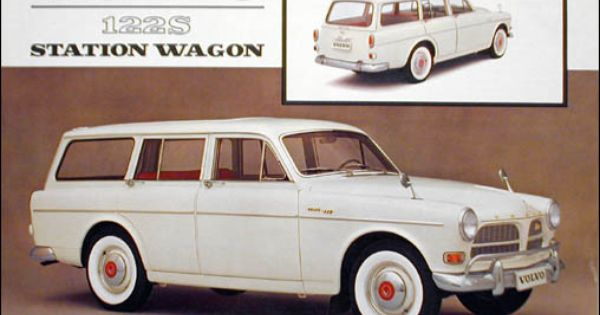 1962 volvo 122s station wagon 2 page color sheet original for Station wagon coloring pages