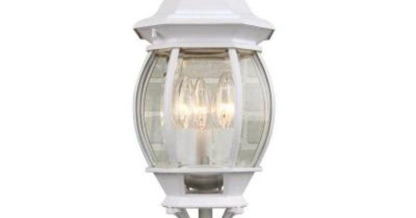 Hampton Bay 3 Light Outdoor White Post Lantern Gnc1813a Wht At The Home Depot Lantern Post Outdoor Lighting Acclaim Lighting