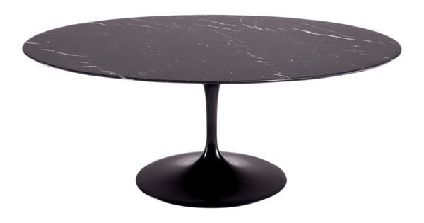 table ovale saarinen 198 cm de diametre en marbre noir table table basse pinterest eero. Black Bedroom Furniture Sets. Home Design Ideas