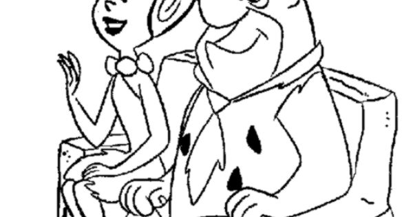pebbles and bambam coloring pages - photo#35