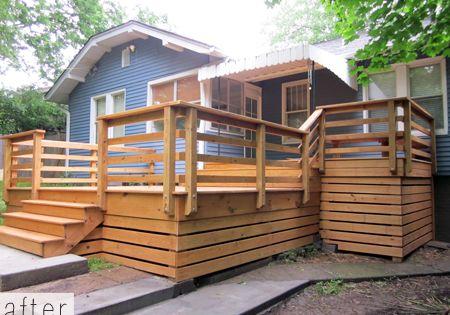Horizontal Deck Skirting Amp Railing Home Sweet Outdoors