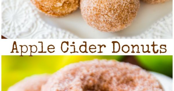 Apple cider donuts, Spiced apple cider and Spiced apples on Pinterest