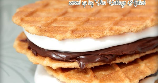 Nutella S'Mores | Nuts about Nutella | Pinterest | Nutella, Waffles ...