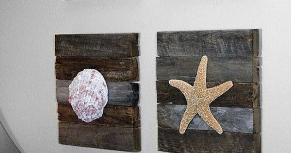 Schelpen schilderijtjes sfeervol zelf te maken schelpen shells pinterest - Originele toilet decoratie ...