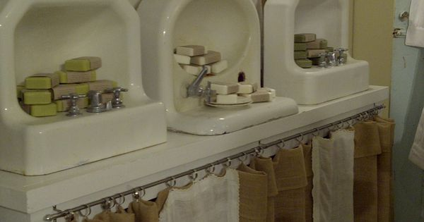 I thought using the sinks was a cute ay to display soaps.