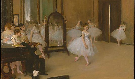 Dance Class - Edgar Degas Completion Date: 1871 Style: Impressionism Genre: genre