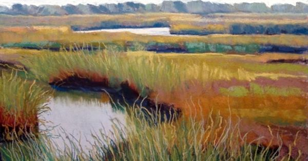 Cape Cod salt marsh painting SOLD | Pastel, Salts and Cape cod