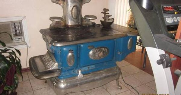 Antique Imperial Beaver Danville Wood Burning Iron Stove Wood