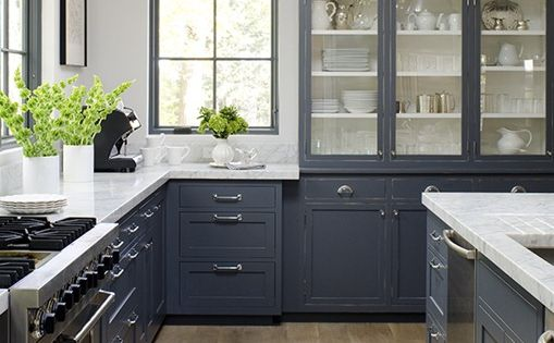 grey cabinet colors, counters and floors