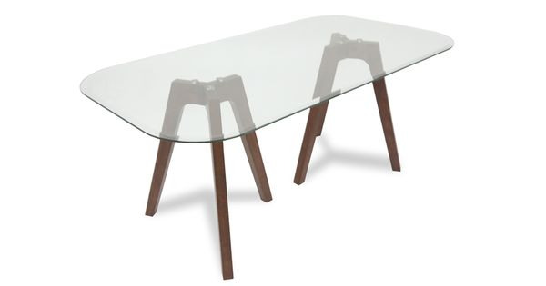 Gibson Glass Dining Table   Glass Tables   Bryght   High End Furniture  Without The Markup | For The House | Pinterest