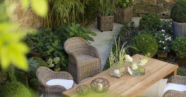 Ensemble mobilier de jardin table tabouret et fauteuils chester gamme flore ze terrasse - Mobilier jardin terrasse rouen ...