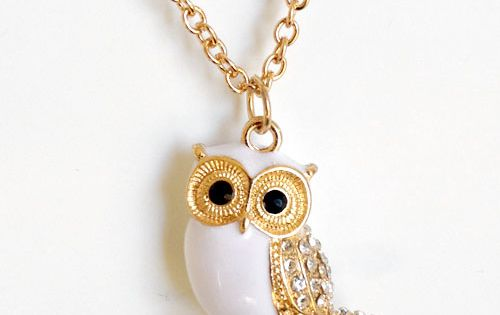 Snow Owl Necklace ❥... hedwig