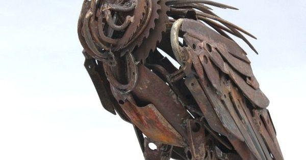 Scrap Metal Secateur Billed Vulture By British Sculptor