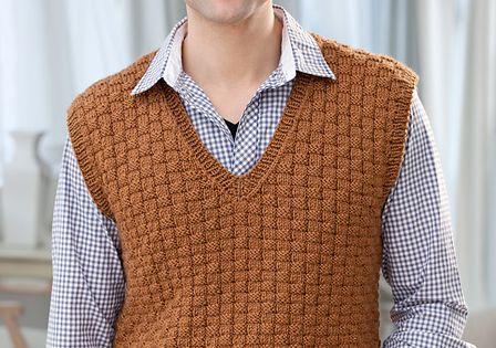 Basket Weave Vest Pattern : Men s basketweave vest xxl pattern by jodi lewanda