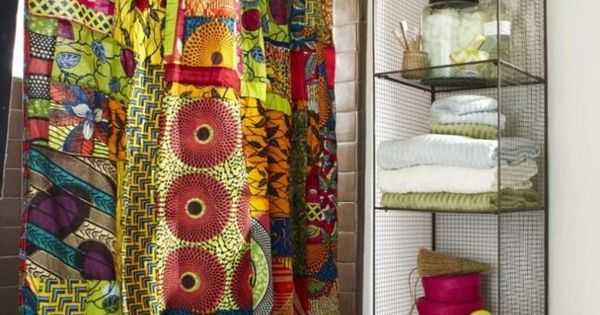 Diy African Print Shower Curtain Things I Love