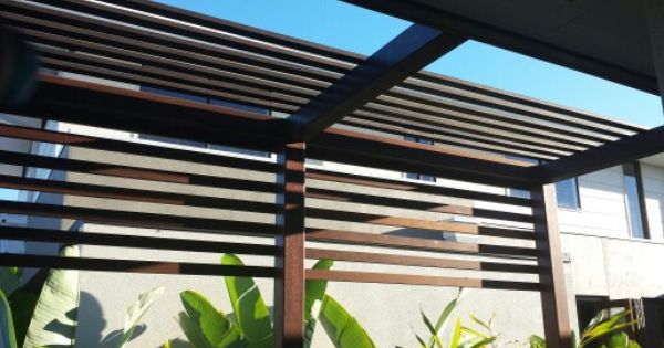 Timber Battens On The Boundary Of The Pergola Modern Pergola Pergola Timber Battens