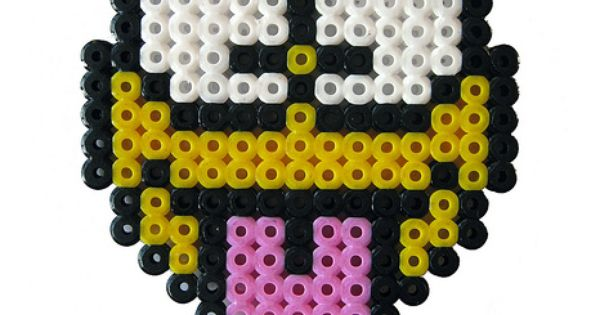 Tongue smiley perler bead by pantflaske 3 pinterest smileys perles et - Perle a repasser smiley ...