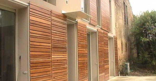 Volets coulissants en bois exotique architecte henri for Garage henri marseille