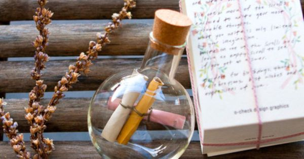 Message in a bottle necklace.