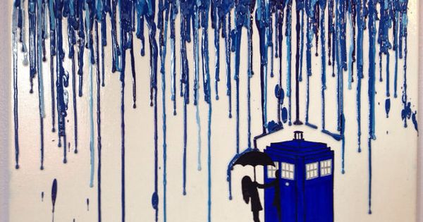 Doctor Who Melted Crayon Art (12x16 in) by KGkittensKorner on Etsy https://www.etsy.com/listing/129379537/doctor-who-melted-crayon-art-12x16-in