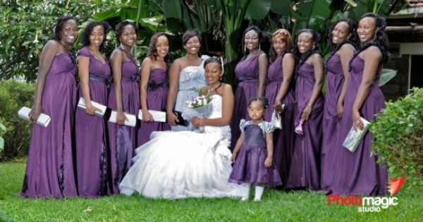 Kenyan Bride's Maids And Their Beauty