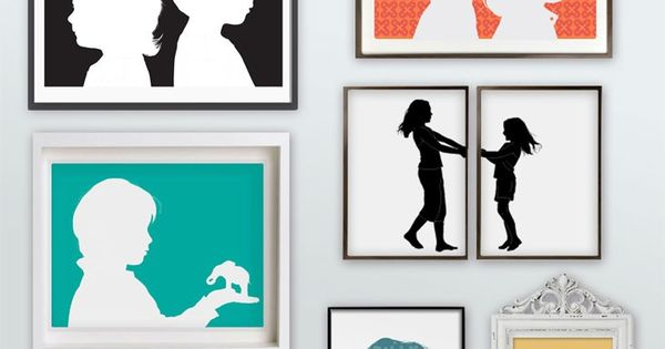 Silhouette portraits... cute idea.