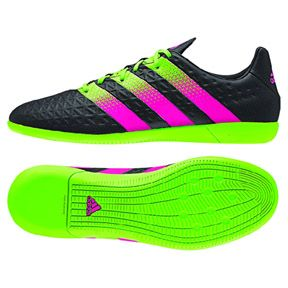 Adidas Ace 16 3 Indoor Soccer Shoes Black Green Pink Soccerevolution Com Soccer Store Soccer Shoes Black Shoes Adidas