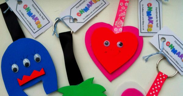 Foam bag tags for the children's school book bags. Can write ...