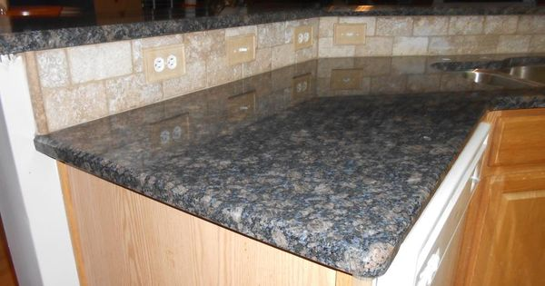 Blue sapphire granite countertop half inch bevel edge 3x6 for 1 inch granite countertops