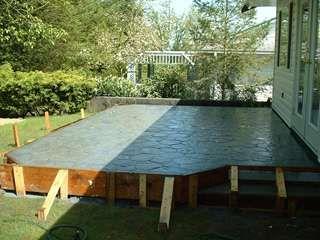 Concrete Patios And Decks Captain Concrete 604 302 0020 Concrete Patio Designs Concrete Patio Raised Patio