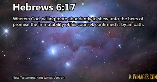Hebrews 6:17   Book of Hebrews   Pinterest   Php