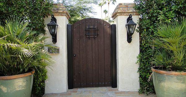 Classic Spanish Style Gate W Large Peep Hole Spanish